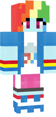 the original Rainbow Dash from My Little Pony Equestria Girls. This skin is now 20% cooler! Skin made by player: Rainbow_Flashing