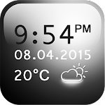 Smoked Glass Weather Clock 2.0 Apk