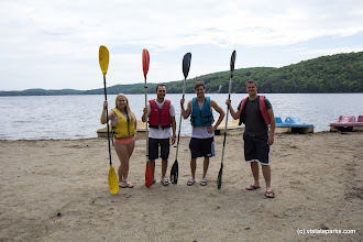 Photo: Group of paddlers at Lake St. Catherine State Park by Amanda Vincent