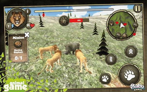 野生獅子模擬