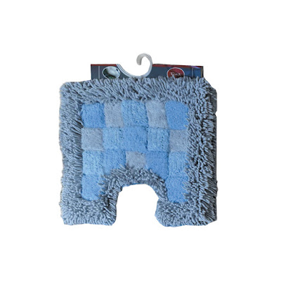 Коврик для туалета Fora Шахматы голубой 40х50 см