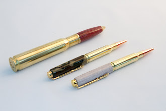 Photo: Mike Twenty - 50-caliber Cartridge Pen, Two 30-caliber Cartridge Pens