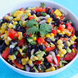 Corn Black Bean and Avocado Salad
