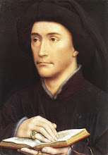 Photo: Portrait of a Man holding a book, c. 1437