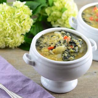Kale and Lentil Soup.