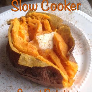 Easy Slow Cooker Baked Sweet Potatoes