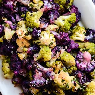 Roasted Cauliflower with Tahini-Cilantro Vinaigrette.