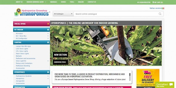 Hydroponics Europe Growshop screenshot 1