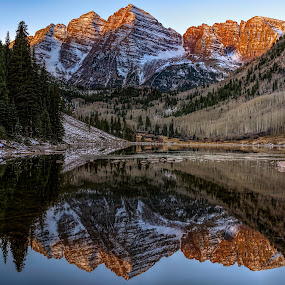 www.yohophotography.com by Jeremy Yoho - Landscapes Mountains & Hills ( water, mountains, reflection, mountain, sunrise )