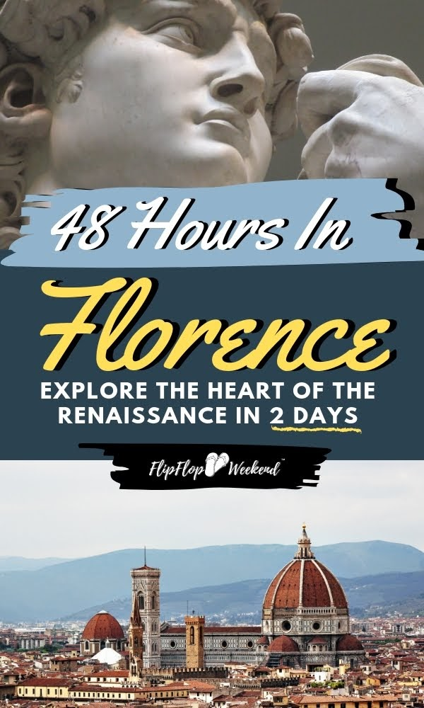 Florence is a cultural masterpiece of amazing food, priceless art and rich history. If you only have a short time in the city that birthed the Renaissance, this post will give you the top tips for must-see things to do in Florence, Italy in two days. #Florence #ItalyTravel