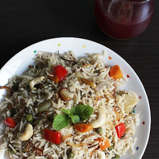 Vegetable Yakhni Pulao (biryani)