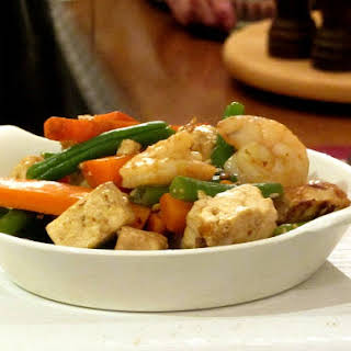 Shrimp and Tofu with Vegetables.