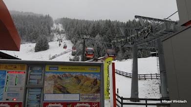 Photo: Stora liften upp till toppen.