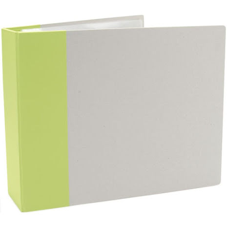 American Crafts Modern D-Ring Album 12X12 - Key Lime