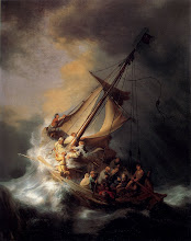 Photo: Title: The Storm on the Sea of Galilee Artist: Rembrandt van Rijn Medium: Oil on canvas Size: 161.7 x 129.8 cm Date: 1633 Location: Missing. http://iconsandimagery.blogspot.com/2009/07/storm-on-sea-of-galilee.html