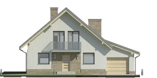 Dom przy Oliwkowej 3 N - Elewacja przednia
