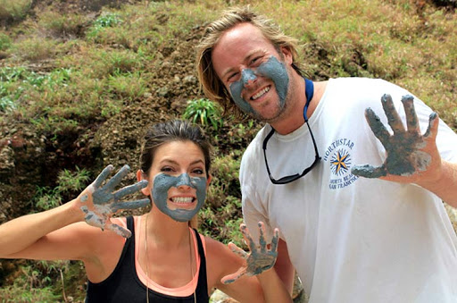 A sulfur face mask seemed like the right thing to do en route to the Boiling Lake on Dominica.