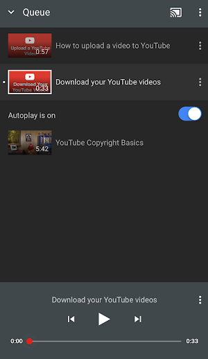Autoplay videos android youtube help autoplay while casting to your tv reheart Images