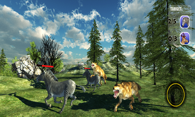 Angry Wolf Jungle 3D - screenshot