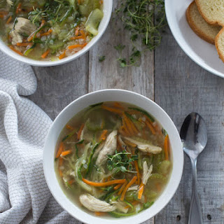 Chicken Zoodle and Cauliflower Rice Soup