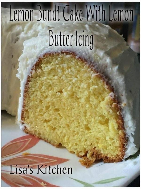 Lemon Bundt Cake With Lemon Butter Icing Recipe