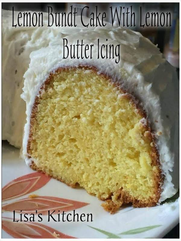Lemon Bundt Cake With Lemon Butter Icing Recipe