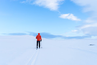 Photo: Skiing towards Auversvatn, in the Hovden area, Setesdal.