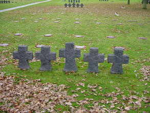Photo: A view of the groups of 5 crosses placed throughout the grounds.