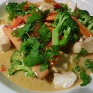 Halibut W/ Coconut and Green Curry