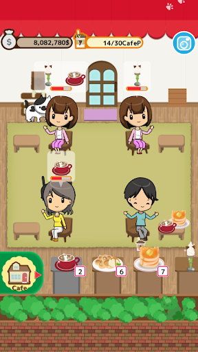 Cute cat restaurant story apktreat screenshots 1