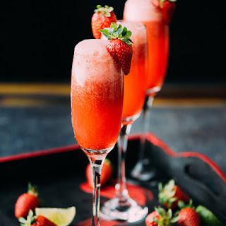 Strawberry Lime Champagne