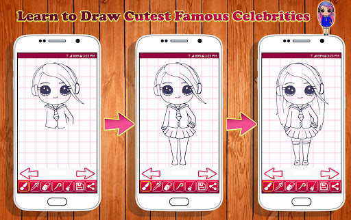 Learn to Draw Cutest Famous Celebrity Characters for PC