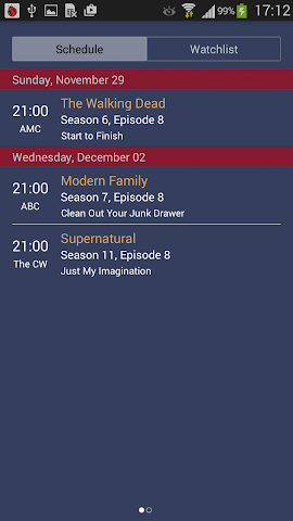 android TV Series Tracker Screenshot 2