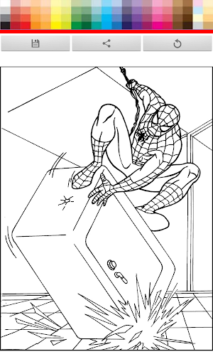 SPIDER KIDS COLORING