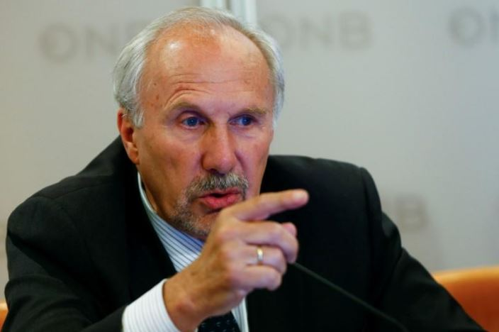 Mr Nowotny makes a point. Picture: REUTERS