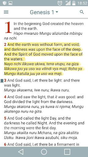 English Swahili Bible 6.2.1 screenshots 1