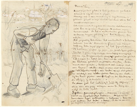 Letter from Vincent van Gogh to Theo van Gogh with 12 sketches