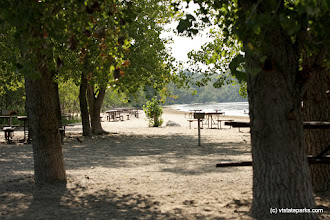 Photo: Picnic area on the beach at Alburg Dunes State Park by Raven Schwan-Noble