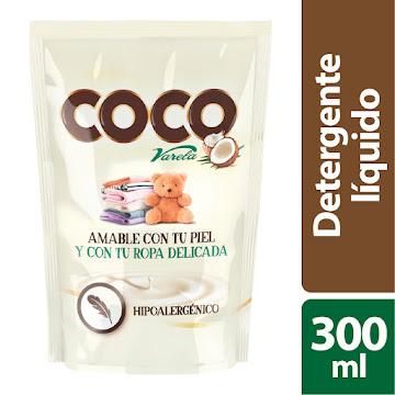 DETERGENTE LIQUIDO   VARELA COCO X300ML