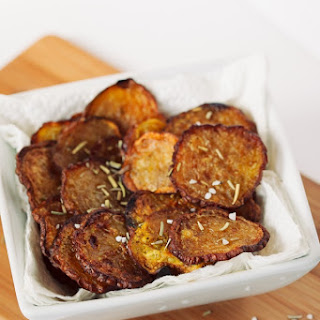 Roasted Rosemary Golden Beet Chips Recipe