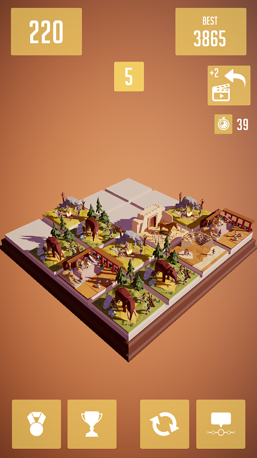 History 2048 - 3D puzzle game- screenshot