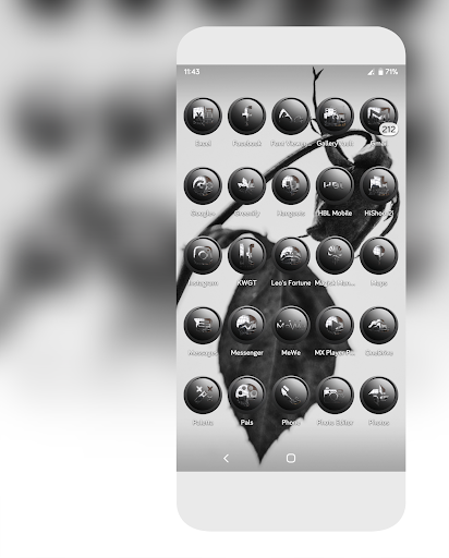 Screenshot for Orbic Gray Icons Pack in United States Play Store