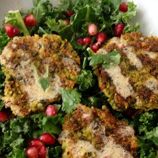 """Kale and Chickpea """"No-Fry"""" Falafel"""