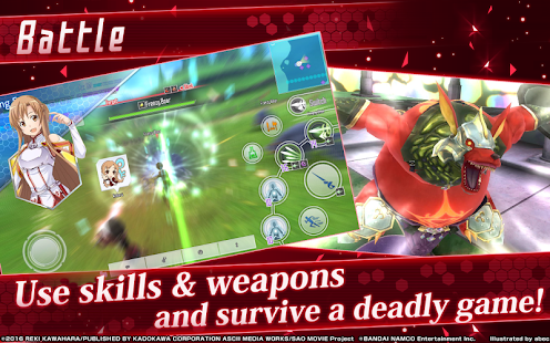 ApkMod1.Com Sword Art Online Integral Factor + Mod (No Skill Cooldown Unlimited HP Kill All Mobs) for Android Game Role Playing