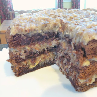Homemade German Chocolate Cake