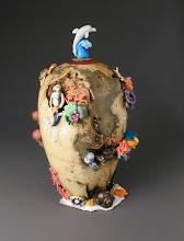 Photo: Nemo and Friends in the 'Hood Dick Codding, turner Kim Hart, beadmaker