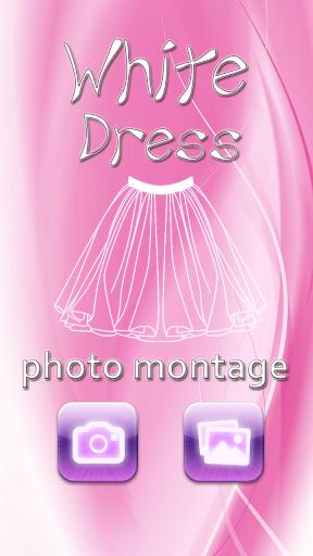 白色礼服照片蒙太奇