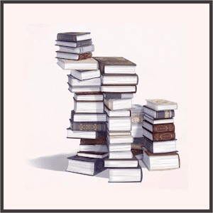 本の山(多)