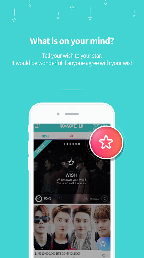 KWAVEU - Wish to stars.- screenshot