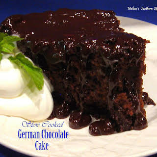 Slow Cooked German Chocolate Cake.